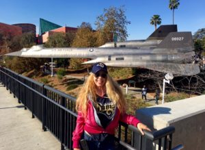 "I was sooo excited to see my fav jet - now as a ""Jet on a Stick"" here at USC!! SR-71 (YF11) Lockheed Skunk Works Marvel"
