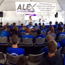 I had the honor to speak with Captain Joe Rajacic for the ALEX team (Aerospace Learning Experience) to 1600 school kids on field trips about aviation! I love to see them excited! Learn more at CDCDZ.org and their Facebook page!