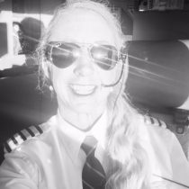 Me doin' my Captain thing! I had just got my new Ray Ban Aviator's and the sun was brightly reflecting off of them – my kind of bling!
