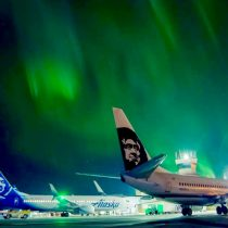 The Aurora Borealis – created when charged particles from the magnetosphere collide with atoms in the earth's upper atmosphere, they absorb extra energy that is expressed as light! It is known as 'the solar wind' and displays as a dancing light show full of color!