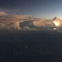 A photo of in cloud lighting. It is truly astonishing how Mother Nature constructs endless creations of cloud formations!