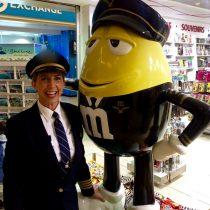 "Look who I found?? Captain M&M and he was such a ""sweeeet"" guy!"