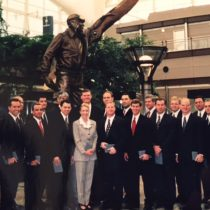 My airline pilot new hire class of Nov 2, 1998! A toast to these extraordinary men for their professionalism and jobs well done – may we have many more years ahead to continue aviating together!