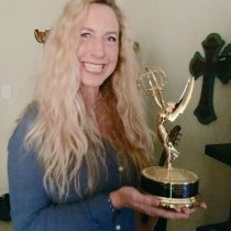 Yes it is a real Emmy! One of 6 by amazing journalist Emmett Miller