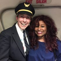 Happily star struck with Chaka Khan