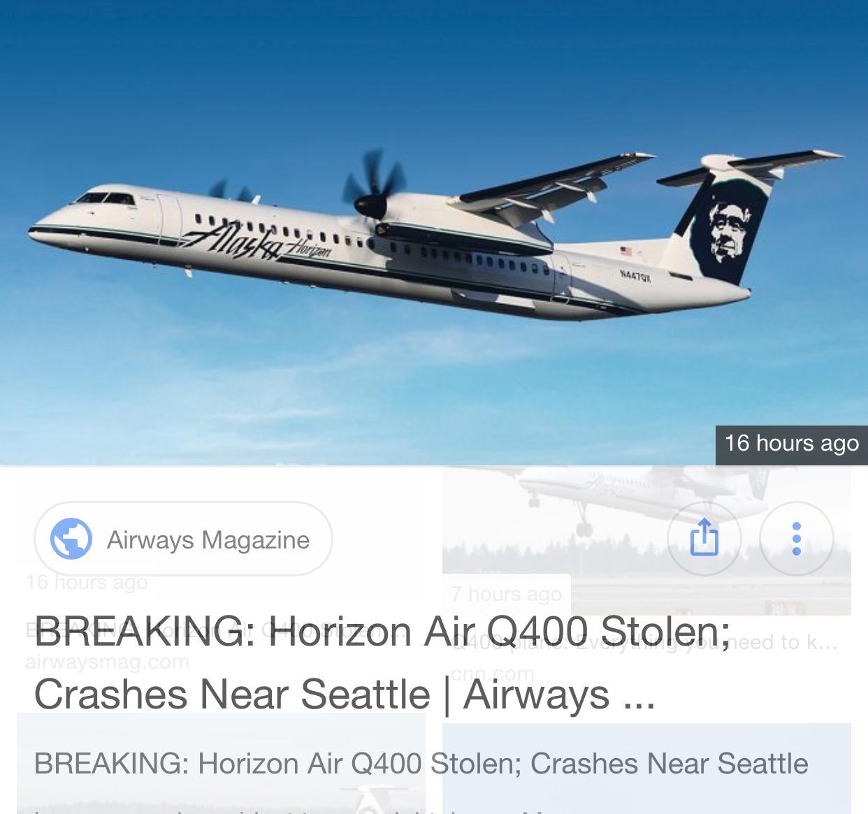 Stolen Regional Airline Aircraft, but how?