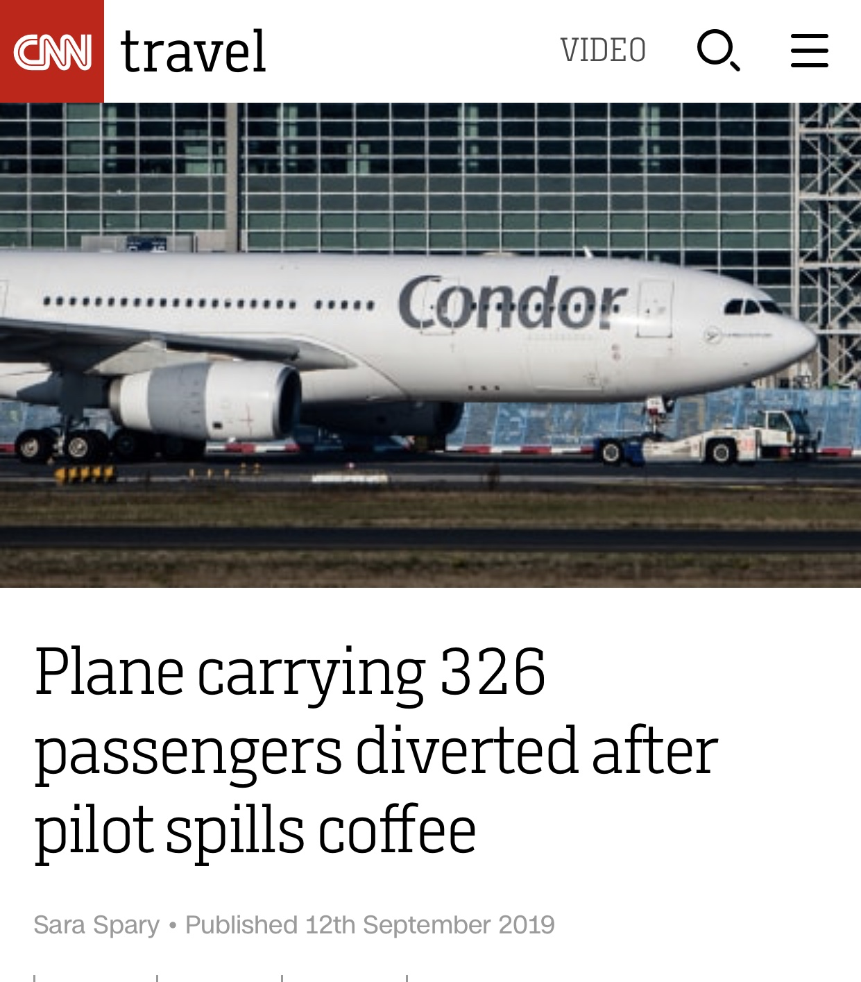 Coffee Mishap on the Flight Deck