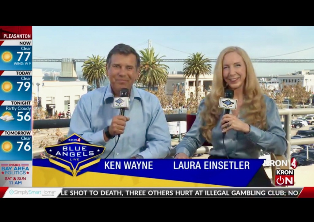Co-Hosting San Francisco Bay Area's Fleet Week Blue Angels Live Special with KRON 4 News!